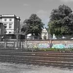 Grafitti am Bahndamm