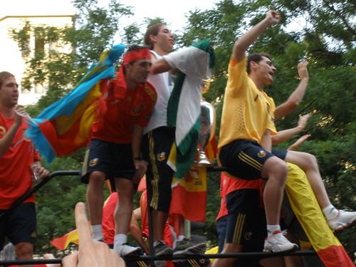 Llegada de la Selección Española a la Plaza de Colón