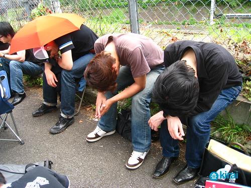 Japanese sleeping on the streets