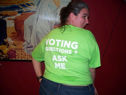 Yeah the voter protection team got their own shirts