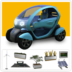 The Sims 3 Renault/Toyota Electric Vehicle Pack and EV/Eco Set