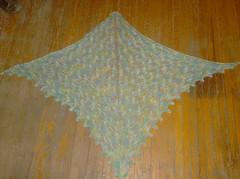 Luna Moth Shawl - complete