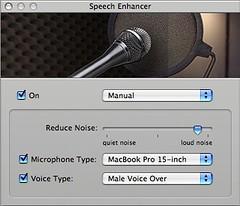 Speech Enhancer manual settings