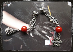 Orecchini rossi ciondoli Natale - Christmas charms red earrings MEHNNCH