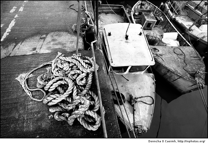 Old rope and boats