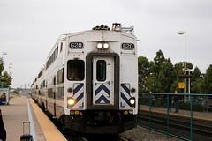 Metrolink train at Irvine Station.