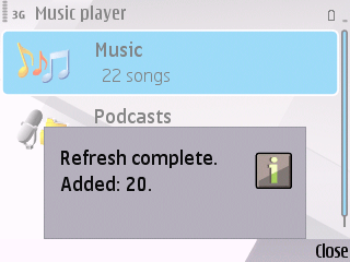 Music Player Manual Refresh