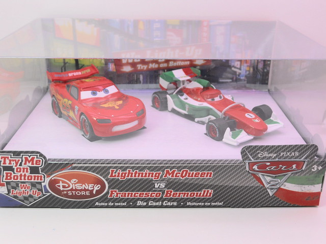 disney store cars 2 lightning mcqueen vs fransceco bernoulli