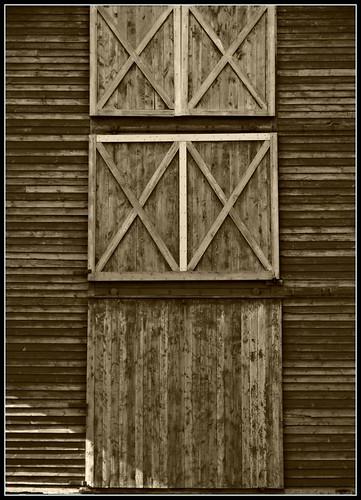 Barn Doors at Dawn