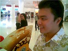 Hauai Bin and his crepe