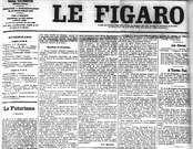 Filippo Marinetti. Publicación del Manifesto futurista en le figaro. 1909.