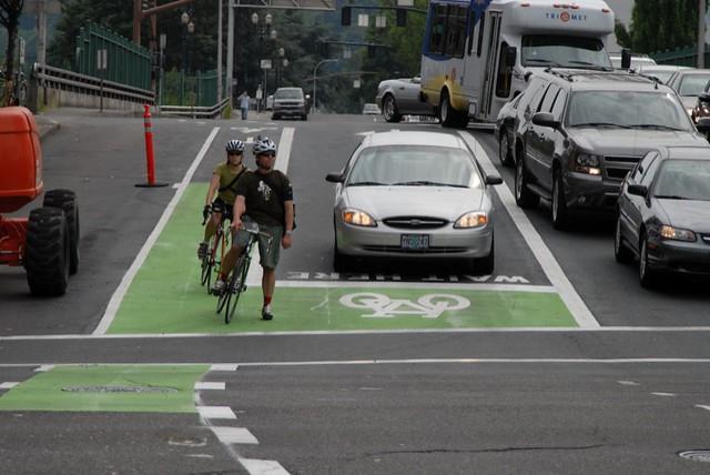 Portland bike box where cyclist had been killed