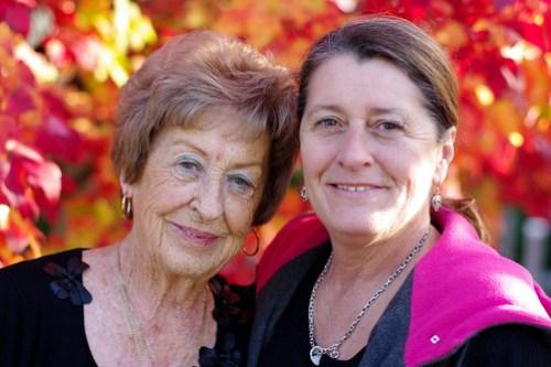 My grandma and mom