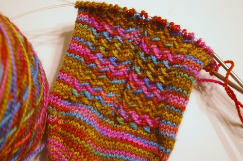 Herringbone Rib Sock