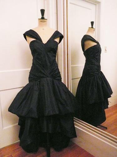 on dress form