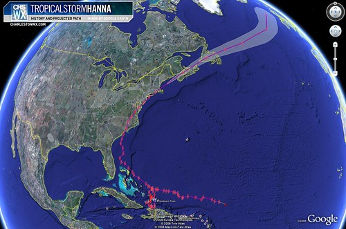 Full Path of Hanna, From Genesis to End
