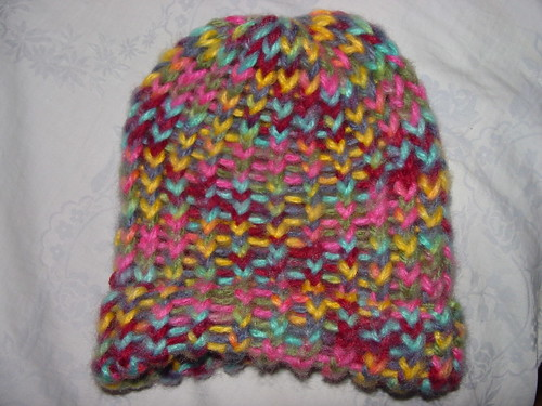 Bright Rainbow Baby Hat