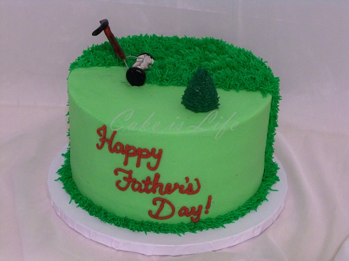 Lawn Mower Father's Day Cake