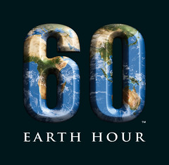 Earth Hour logo 60 peace green ecofriendly environment