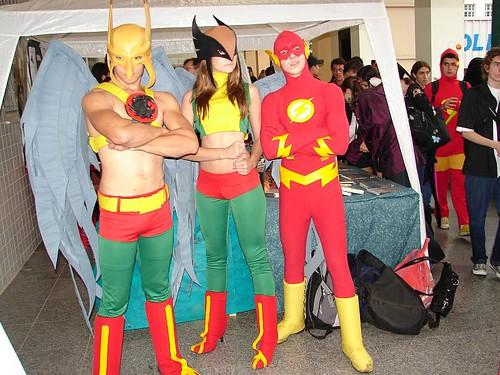 Tanagoriano, Mulher Gavião e Flash