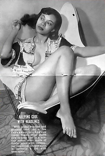 Model Keeping Cool With Headlines - Jet Magazine, May 28, 1953 by vieilles_annonces.