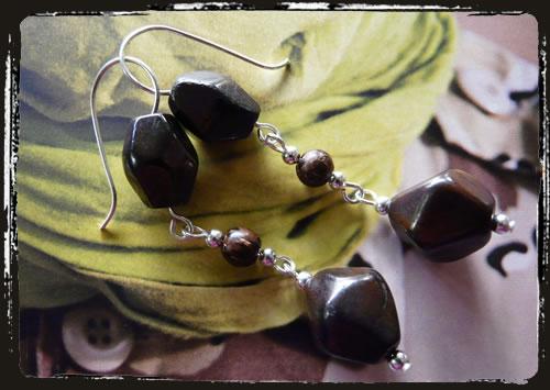 Orecchini marrone - Brown earrings MEHILEG