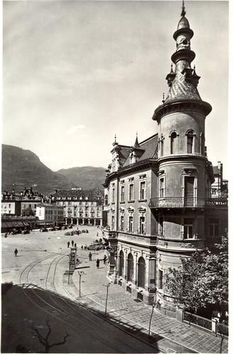 postcard - bolzano - piazza walter - 1955