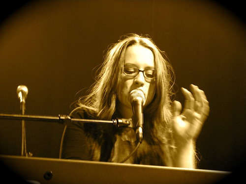 Ingrid Michaelson on the piano