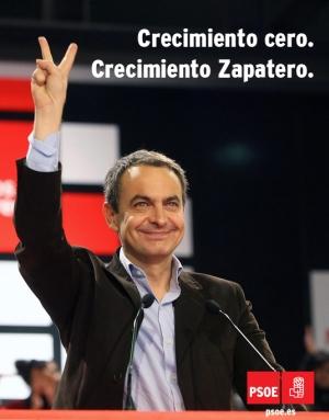 Cartel PSOE - Crecimiento Zapatero
