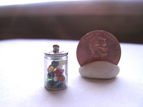 mini pony bead jar