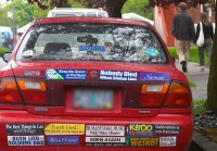 Bumper Stickers Linked to Road Rage