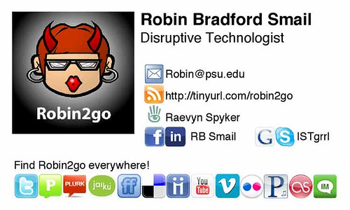 ultimate social media networks business card