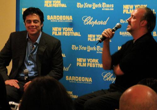 Benicio Del Toro, Kent Jones of the Film Society
