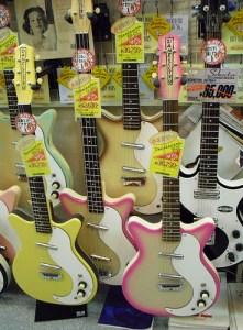 Danelectro guitars, Tokyo, October 2008