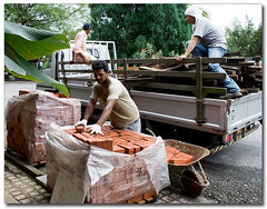 Loading Bricks & Wood