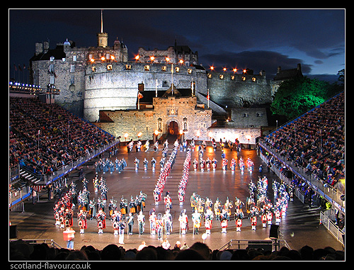 military tattoo. old town. scotland