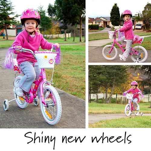 shiny new wheels