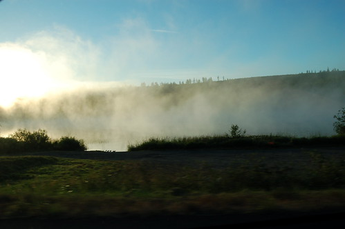 we turned one corner and drove into a beautiful pocket of fog