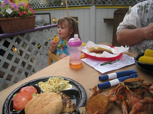 Steamed Crabs, Grilled Chicken, and Amelias kiddie meal