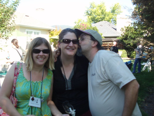 Megan the Wannabe Wino, me, and Randy Hall of Wine Biz Radio!