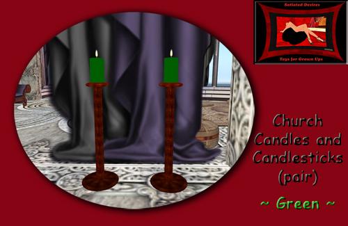 Church Candles - Green