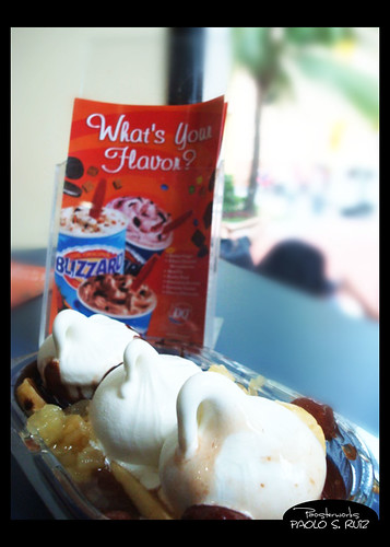 Banana Split at Dairy Queen
