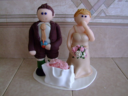 Wedding cake toppers by ✭Lou✭.