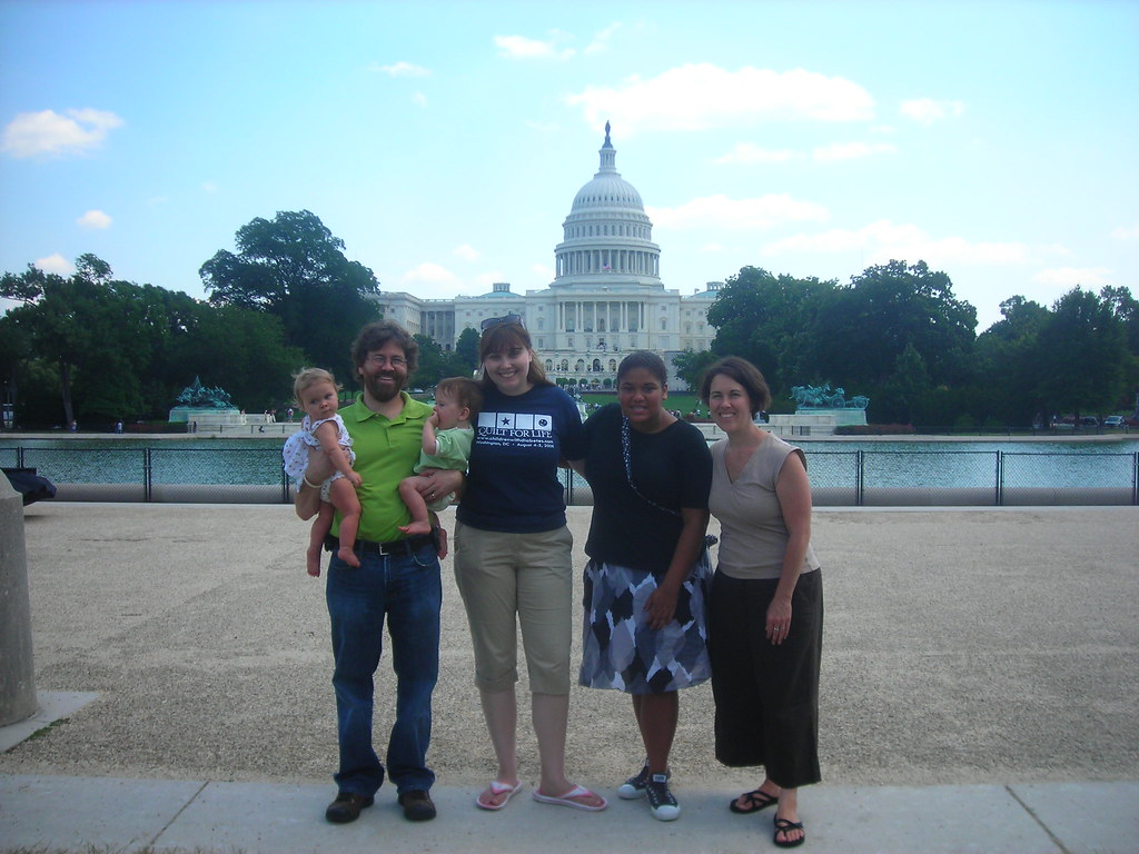 Kevin (with Ian and Eleanor), me, Jillian and Meg