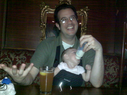 We have a baby...in a bar...