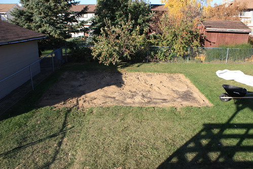 sandbox and most of the sand removed