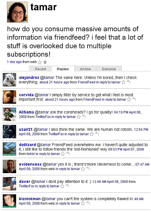 Twitter: FriendFeed