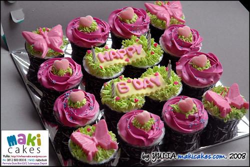 Birthday Cupcakes Pink & Green