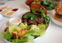 Au Poivre with Caesar Salad