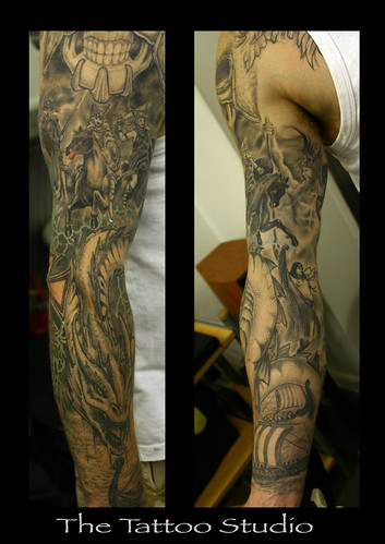 where you see partial of the tattoo on the bicep area coming out while